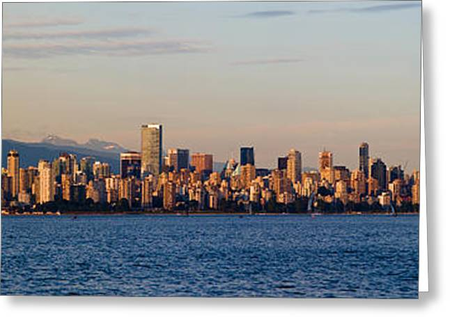 Vancouver Evening Skyline Greeting Card