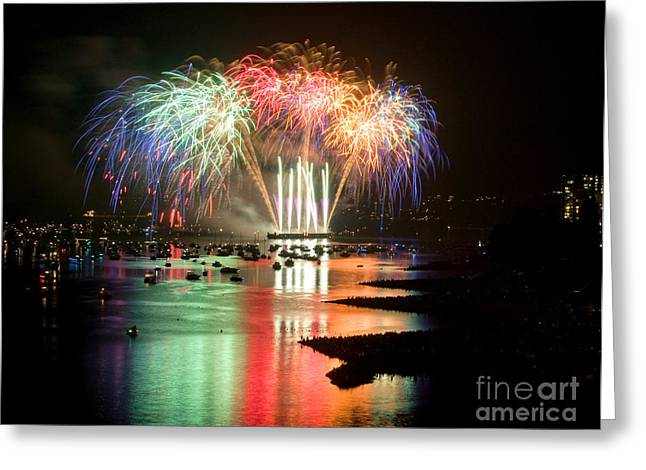 Vancouver Fireworks 5 Greeting Card by Terry Elniski