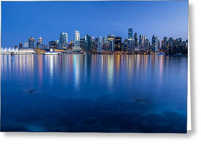 Vancouver From Stanley Park Greeting Card by Pierre Leclerc Photography