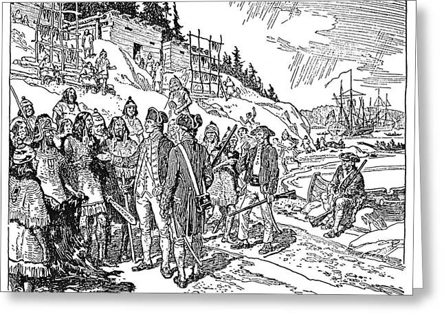 Vancouver Island, 1778 Greeting Card by Granger