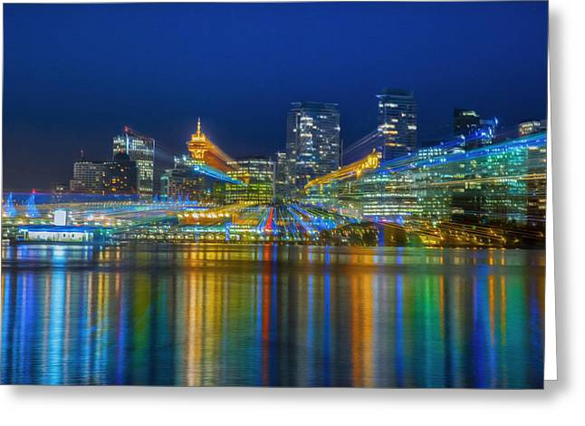 Vancouver Lights Greeting Card