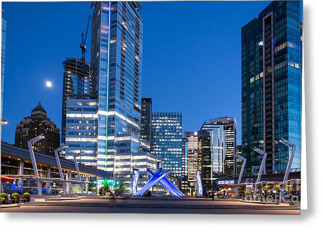 Vancouver Olympic Cauldron - By Sabine Edrissi Greeting Card by Sabine Edrissi
