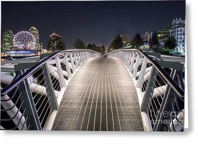 Vancouver Olympic Village Canoe Bridge - By Sabine Edrissi  Greeting Card