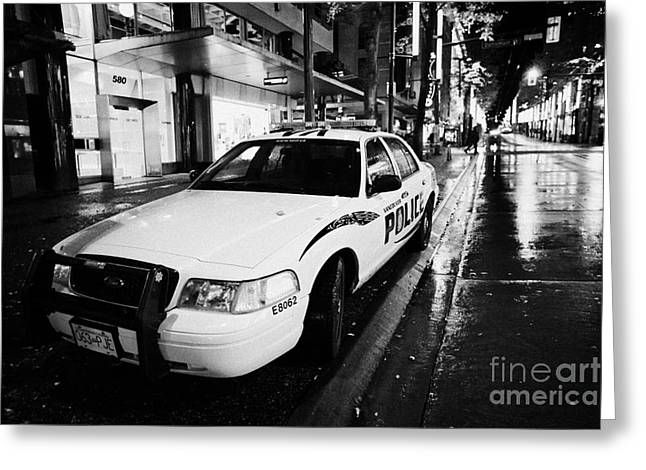 Vancouver Police Squad Patrol Car Vehicle Bc Canada Greeting Card