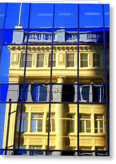 Vancouver Reflections 2 Greeting Card by Randall Weidner
