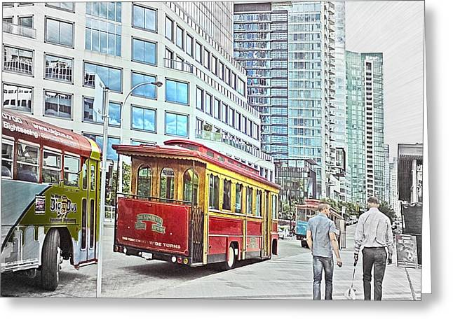 Vancouver Sightseeing Greeting Card by Carol Cottrell