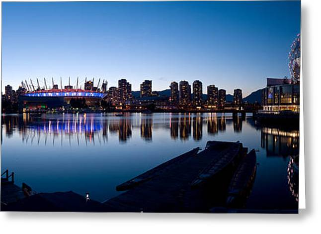 Vancouver Skyline At False Creek Greeting Card