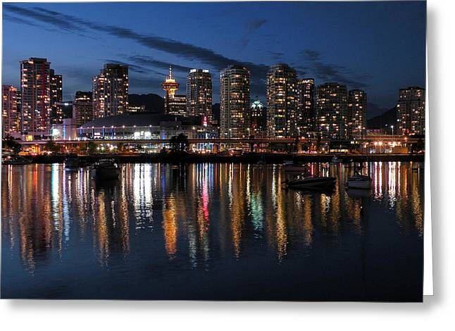 Vancouver Skyline Greeting Card by Brian Chase