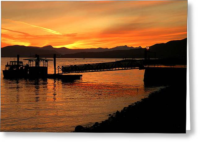 Vancouver Sunset Greeting Card by Brian Chase