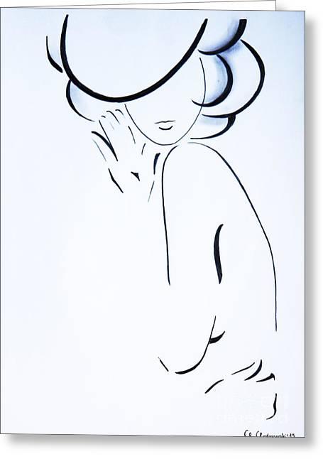 Vanessa Greeting Card by Anna Androsovski