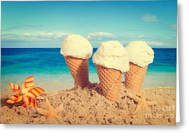 Vanilla Icecreams Greeting Card by Amanda Elwell