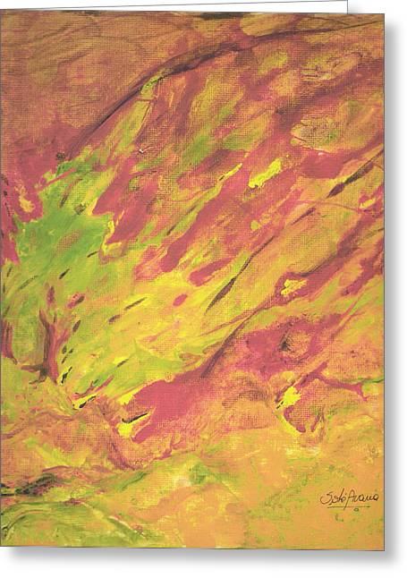 Vanishing Forest Greeting Card by Sole Avaria