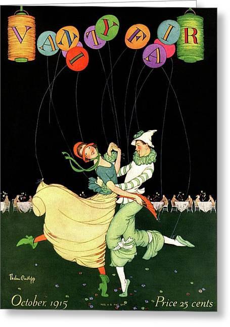 Vanity Fair Cover Featuring A Couple Dancing Greeting Card by Thelma Cudlipp