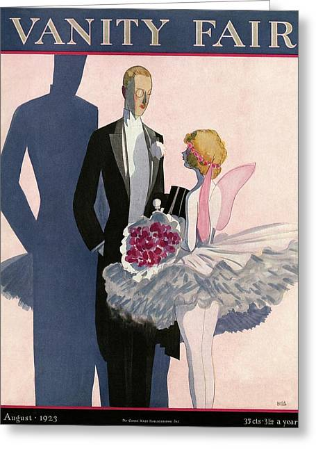 Vanity Fair Cover Featuring A Man In A Tuxedo Greeting Card by Eduardo Garcia Benito