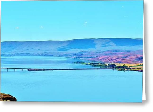 Vantage Bridge Over The Columbia River Greeting Card