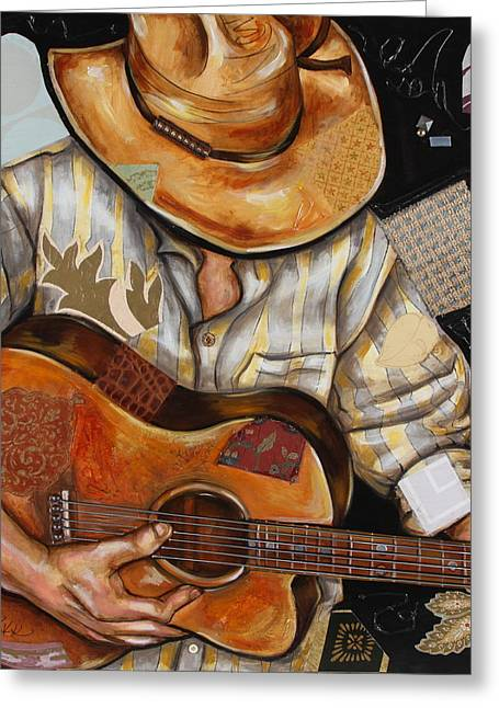 Vaquero De The Acoustic Guitar Greeting Card