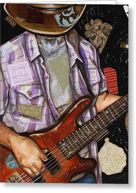 Vaquero De The Bass Guitar Greeting Card