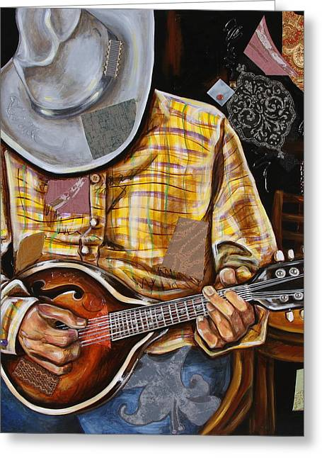 Vaquero De The Mandolin Greeting Card