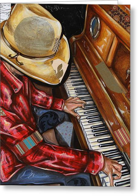 Vaquero De The Piano Greeting Card