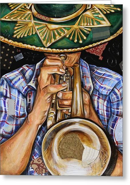 Vaquero De The Trumpet Greeting Card