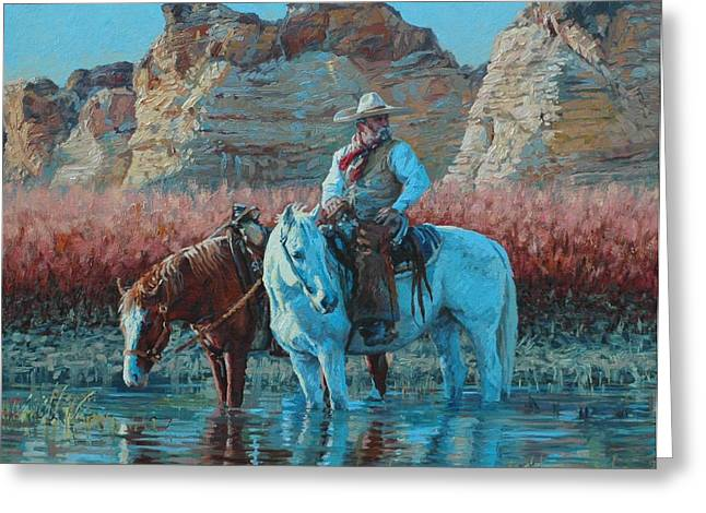 Vaquero Greeting Card by Jim Clements