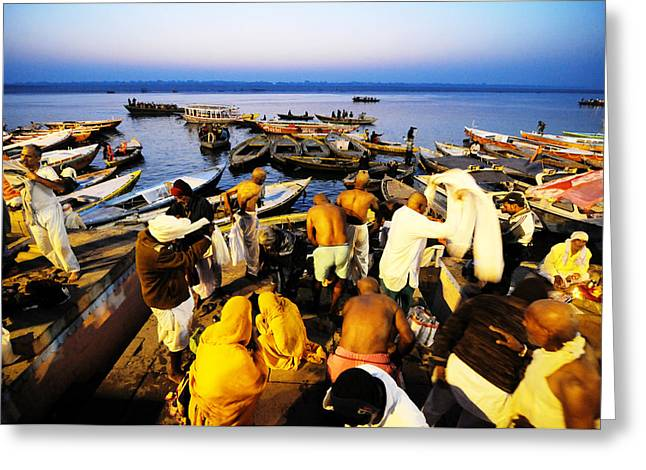 Varanasi Dawn Greeting Card