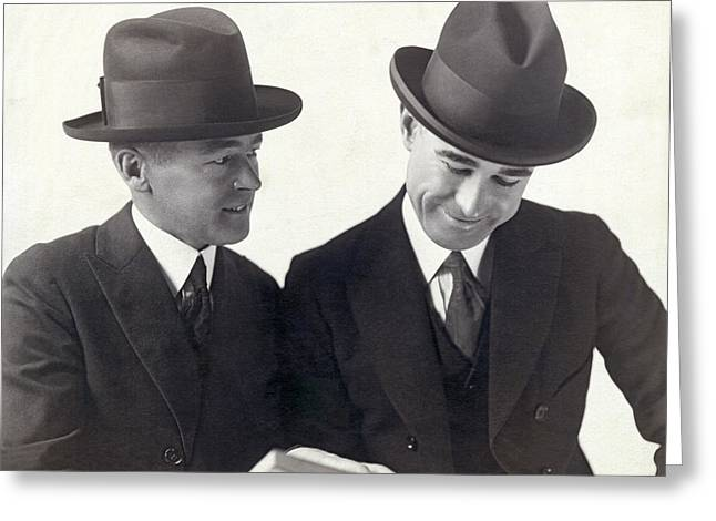 Vardon And Perry Entertainers Greeting Card by Underwood Archives