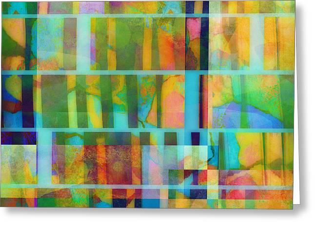 Variation On A Theme Abstract Art Greeting Card by Ann Powell