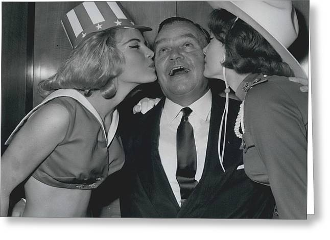 Variety Club Lunch Tribute To Billy Butlin Greeting Card by Retro Images Archive