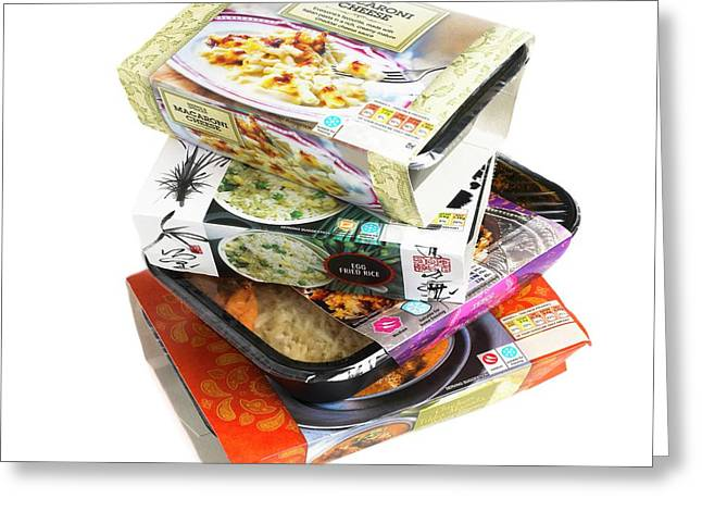 Various Ready Meals Greeting Card