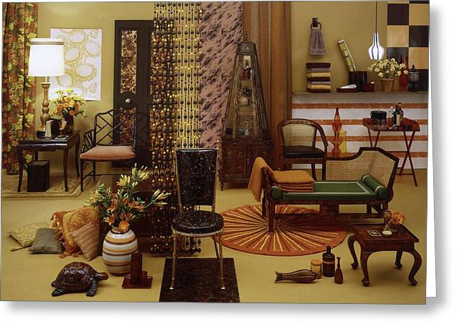Various Tortoise Shell Furniture And Accessories Greeting Card by Tom Yee