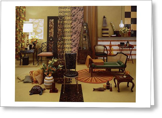 Various Tortoise Shell Furniture And Accessories Greeting Card