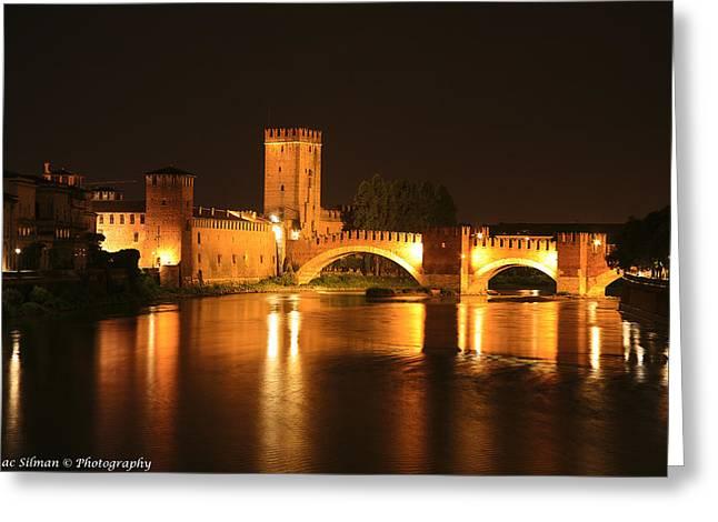 Varona Castel Vecchio Italy Greeting Card by Isaac Silman