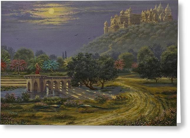 Varsana. Abode Of Radharani Greeting Card by Vrindavan Das