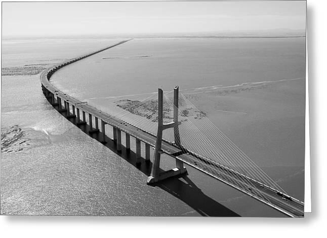 Vasco De Gama Bridge, Lisbon Greeting Card by Xavier Durán