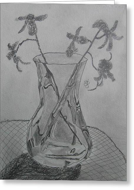 Vase Greeting Card