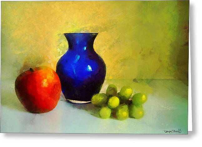 Vase And Fruits Greeting Card