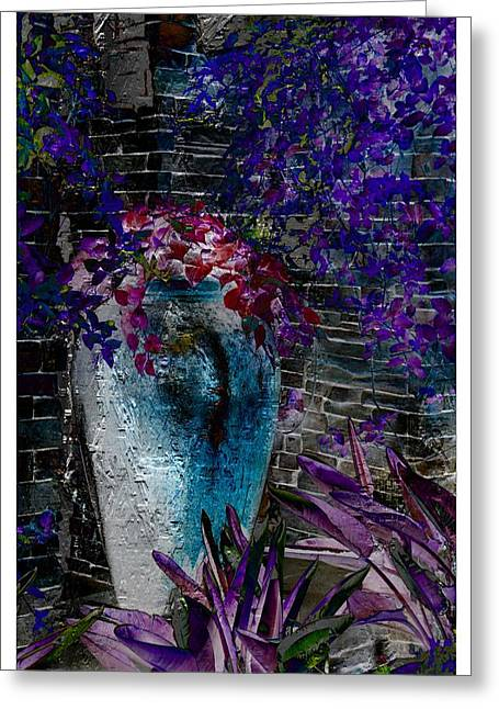 Greeting Card featuring the photograph Vase by Athala Carole Bruckner