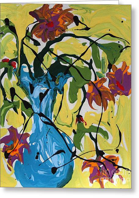 Vase Of Flowers Greeting Card by Alison Caltrider