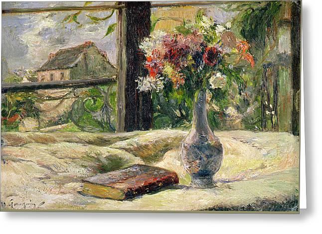 Vase Of Flowers Greeting Card by Paul Gauguin