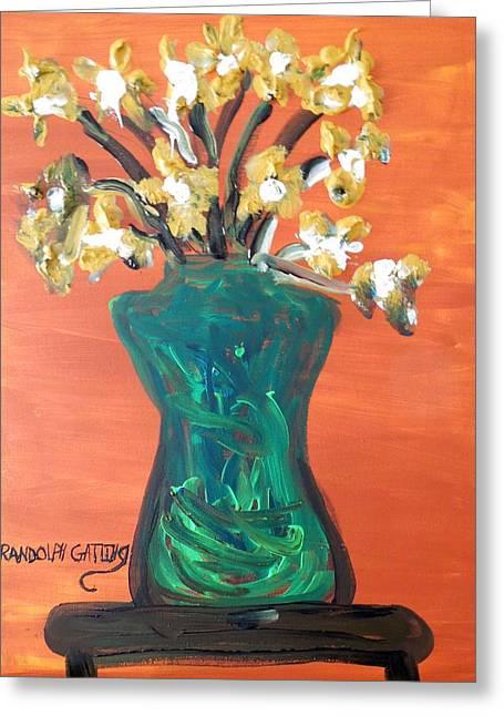 Vase Greeting Card