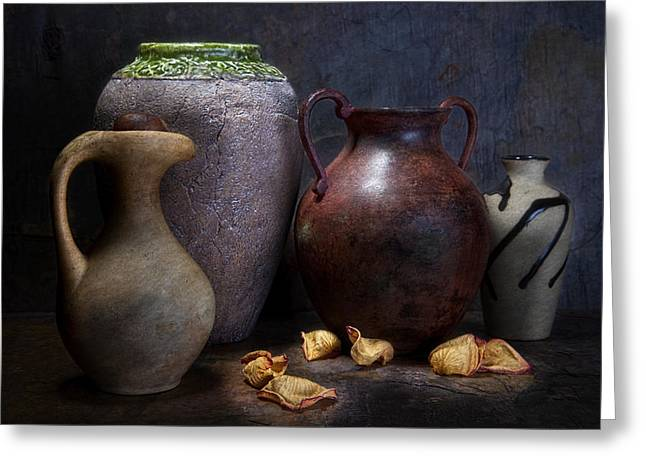 Vases And Urns Still Life Greeting Card