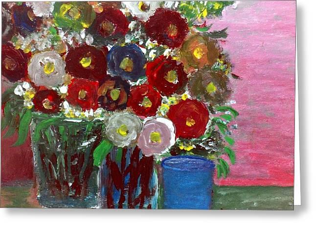 Vases Of Spring  Greeting Card by Mauro Beniamino Muggianu