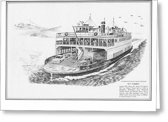 Vashon Ferry Greeting Card