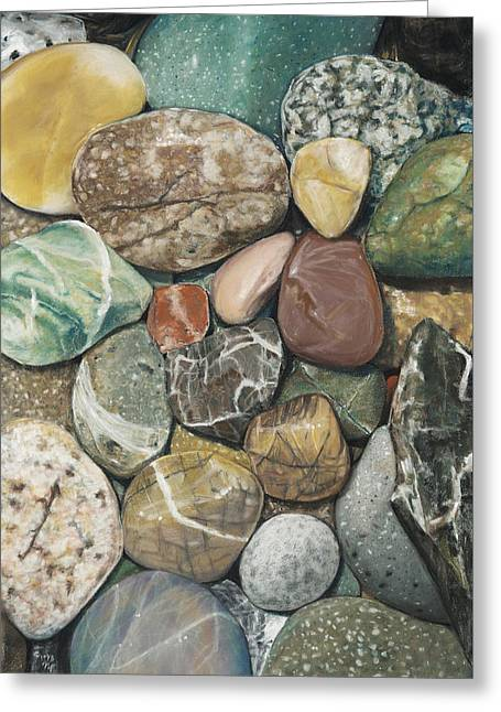 Vashon Island Beach Rocks Greeting Card