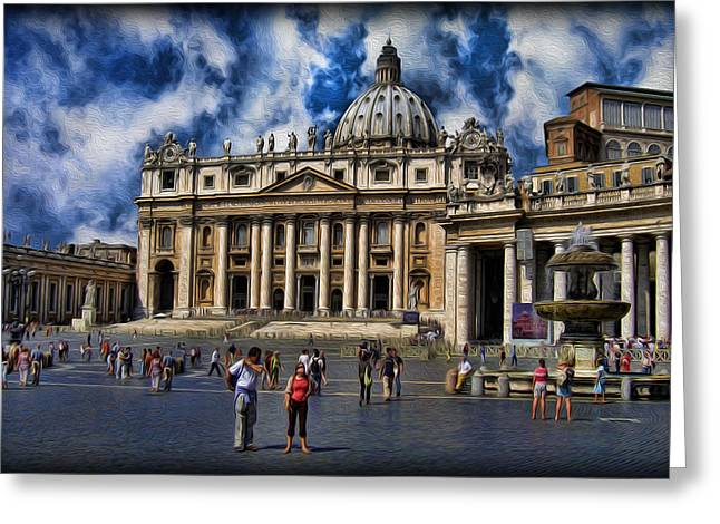 Vatican City - The Bishop Of Rome's Home Greeting Card by Lee Dos Santos
