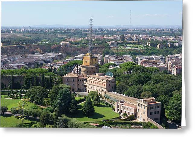 Vatican Radio. Greeting Card by Mark Williamson