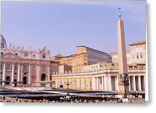Vatican, St Peters Square, Rome, Italy Greeting Card by Panoramic Images