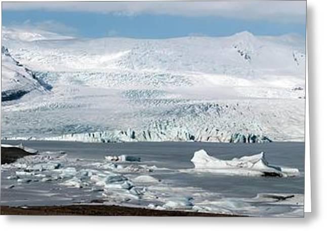 Vatnajokull Ice Cap And Glacier Greeting Card by Jeremy Walker