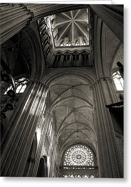 Vaults Of Rouen Cathedral Greeting Card by RicardMN Photography